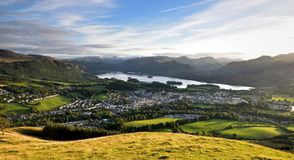 Keswick and Derwent water. From Latrigg Royalty Free Stock Image