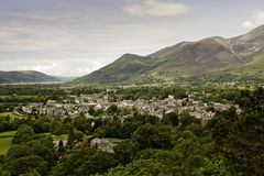 Keswick in the Lake District, UK. Above view of Keswick in the Lake District, Cumbria, UK Stock Image