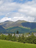 Keswick overlooked by Skiddaw in the English Lake District Royalty Free Stock Photos