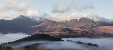 Keswick temperaturinversion Arkivfoto