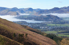 Keswick town in the Lake District. Viewed from Latrigg Fell, Cumbria, England Stock Photo