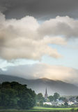 Keswick. The town of Keswick at the north end of Lake Derwentwater, Cumbria, England Royalty Free Stock Photography