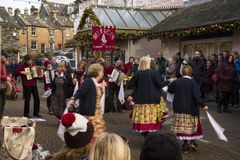 Keswick victorian fayre. Victorian fayre in Keswick west cumbria on a cold but sunny day in december Royalty Free Stock Photo