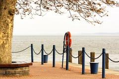 Keszthely harbor at Lake Balaton Stock Image