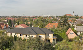 Keszthely morning cityscape in Hungary. Typical hungarian building and houses. Royalty Free Stock Photo