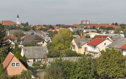 Keszthely morning cityscape in Hungary. Typical hungarian building and houses. Stock Images