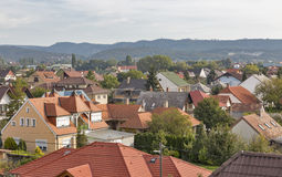 Keszthely morning cityscape in Hungary. Typical hungarian building and houses. Royalty Free Stock Image