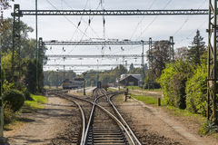 Keszthely passenger train station, Lake Balaton, Hungary. Royalty Free Stock Photos