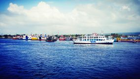 Ketapang port Banyuwangi Royaltyfri Fotografi