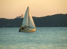 Ketch on Balaton Stock Images