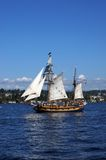 The ketch, Hawaiian Chieftain, sails on Lake Washington Stock Photo
