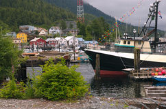 Ketchican, Harbor. Boats in Ketchikan, Alaska harbor Royalty Free Stock Photography