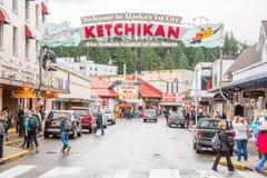 Ketchikan阿拉斯加 免版税库存照片