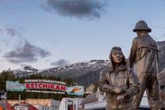 Ketchikan雕象 免版税图库摄影