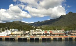 Ketchikan. Ship dock in Ketchikan, Alaska Stock Photos