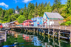 Ketchikan, Alaska. Creek Street, the historic broadwalk stock image