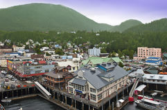 Ketchikan Alaska Cruise Ship Stop Inside Passage Royalty Free Stock Image