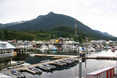 Ketchikan Alaska harbor royalty free stock images