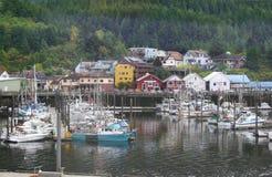 Ketchikan Alaska schronienia łodzie zdjęcie royalty free