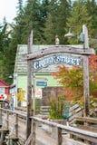 Entrance to Creek Street in Ketchikan Alaska stock photography