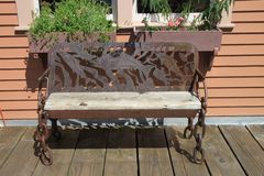 Ketchikan bench Stock Photo