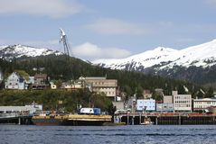 Ketchikan Downtown. The view of Ketchikan downtown skyline (Alaska stock images