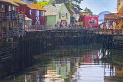 ketchikan gata för alaska liten vik royaltyfri fotografi