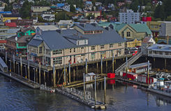 Ketchikan Harbor. Harbor in Ketchikan, Alaska; the southeasternmost city in Alaska. Ketchikan is named after Ketchikan Creek, which flows through the town Royalty Free Stock Photography
