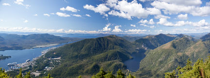 Ketchikan Panorama Royalty Free Stock Images