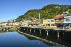 Ketchikan pier, Alaska Stock Images