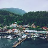 Ketchikan port in Alaska Royalty Free Stock Image