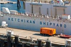 Ketchikan Shipyard Royalty Free Stock Image