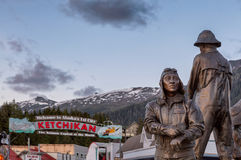 Ketchikan Statues. The pioneers of Ketchikan, Alaska Royalty Free Stock Photography