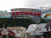 Ketchikan van de binnenstad Alaska stock foto