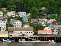 Ketchikan on the water Royalty Free Stock Photo