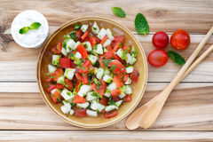 Ketchumbar, India. Ketchumbar is a tomato and cucumber salad from India royalty free stock photography