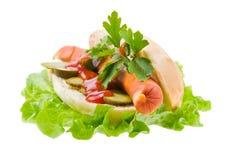 ketchup горячей сосиски Стоковая Фотография RF