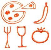 ketchup икон еды Стоковая Фотография RF