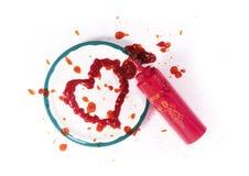 ketchup сердца Стоковая Фотография