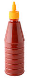 Ketchup. Bottle of ketchup on white background Royalty Free Stock Photography