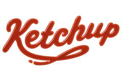 Ketchup royalty-vrije stock afbeelding