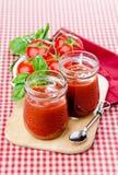 Ketchup with Basilic Royalty Free Stock Photography