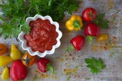 Ketchup caseiro em uma caçarola Imagens de Stock Royalty Free