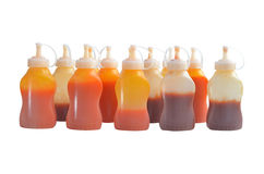 Ketchup and chili sauce bottles Stock Image