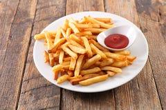 ketchup de pommes frites Photo libre de droits