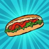 Ketchup de salade de hot-dog Photo stock