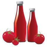 Ketchup de tomate Photos libres de droits