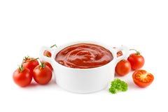 Ketchup de tomate Photographie stock libre de droits