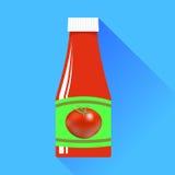Ketchup de tomate illustration libre de droits