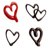 Ketchup dello sciroppo di cioccolato Fotografia Stock Libera da Diritti